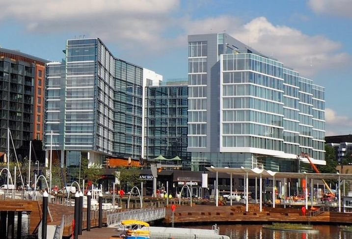 The Wharf's dual-flag Canopy by Hilton and Hyatt House hotels