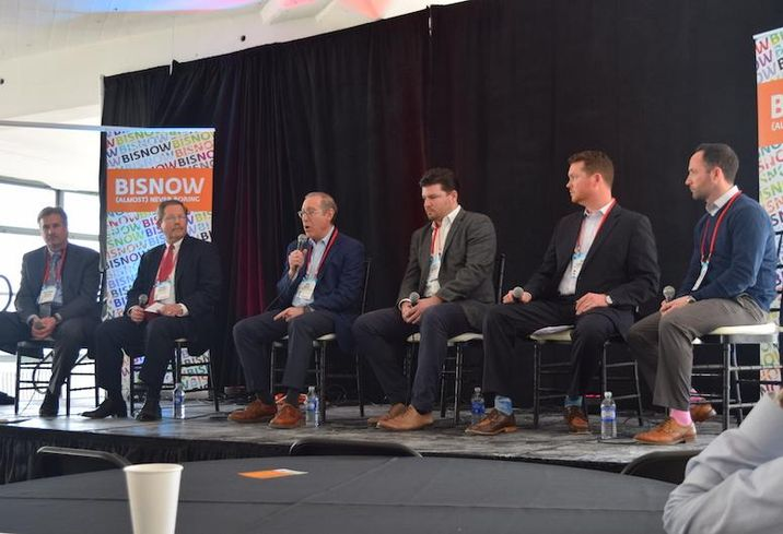 Margulies Hoelzli Architecture's Matthew Hoelzli, Blue Rock Construction's Thomas Meagher, DH Property Holdings' Dov Hertz, Sitex Group's Zach McHugh, Advantage Engineers' Dan Schauble and ConEd of New York's Stephen Campbell