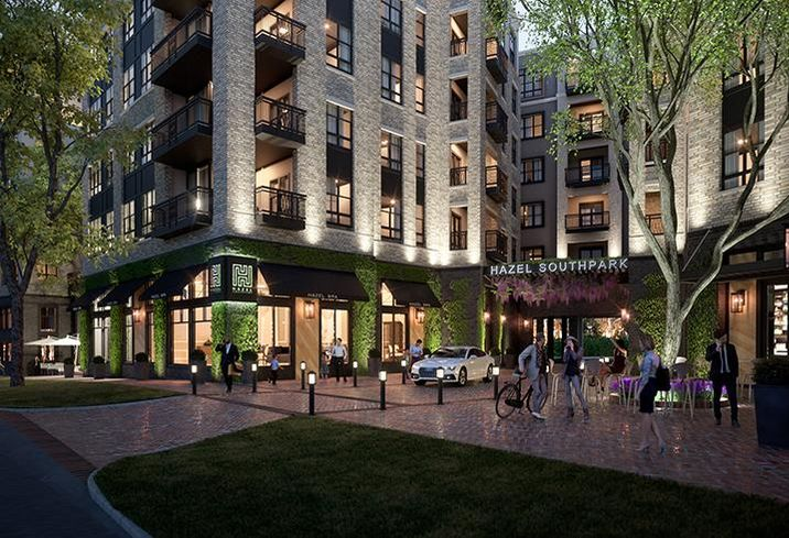 ZOM Hazel SouthPark luxury apartments will feature retail and restaurant space