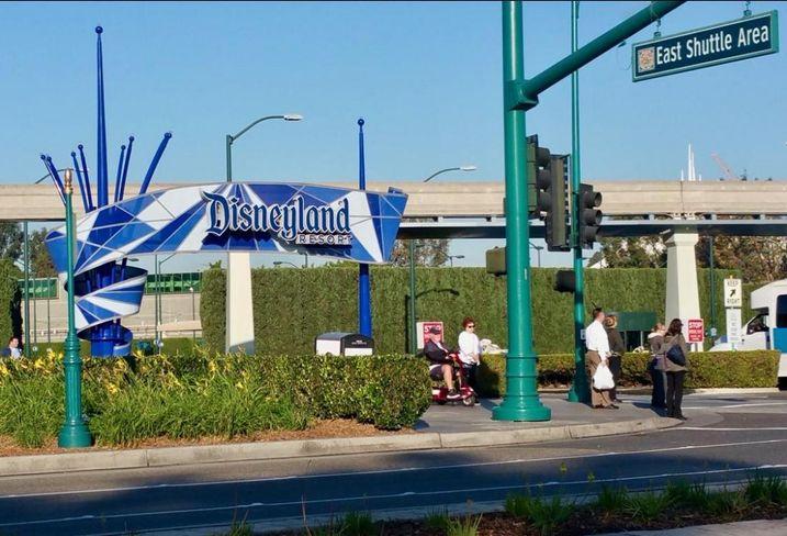 Commercial developments around Disneyland