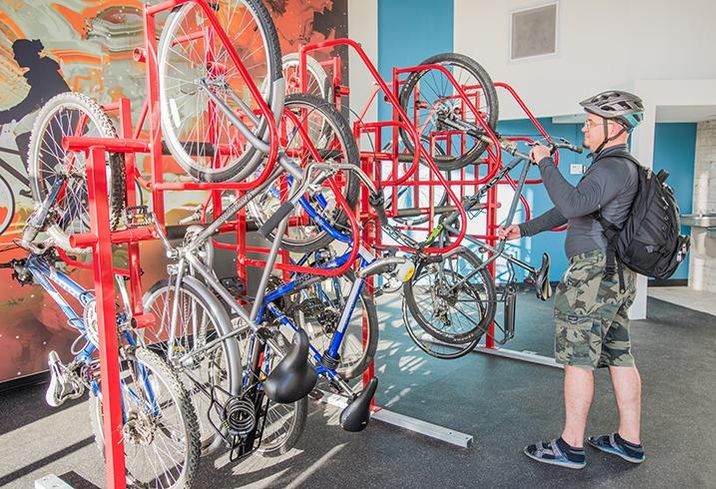 Bike storage at 525 North Tryon