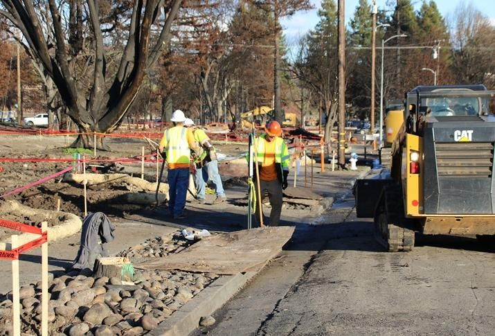 U.S. Army Corps of Engineers contractors continue to remove debris in Coffey Park neighborhood within Santa Rosa, California as part of the mission to oversee the clearing of residential properties, Jan. 5.