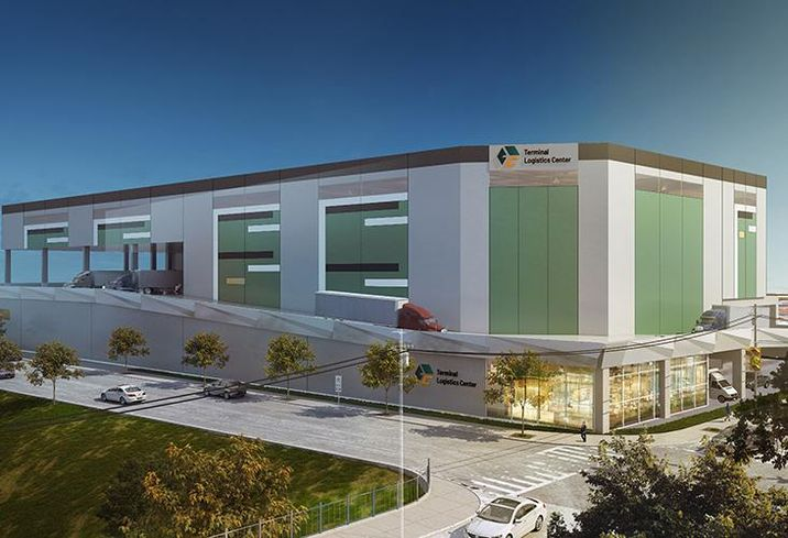Rendering of the planned multistory industrial facility Triangle Equities is building in Queens