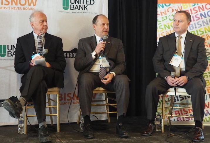 Crystal City BID's Rich Bradley, KBS Companies' Marc DeLuca and The Boeing Co.'s Todd Yeatts