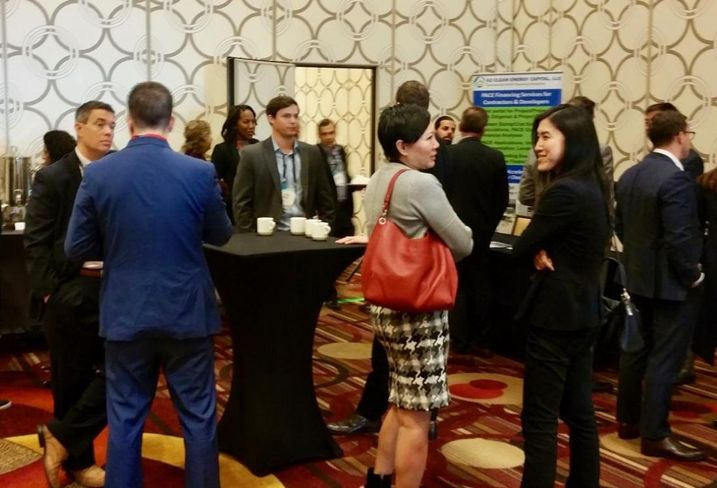 Attendees network at Bisnow's LA Capital Markets and Foreign Investment event Feb. 28 at the JW Marriott in downtown Los Angeles.