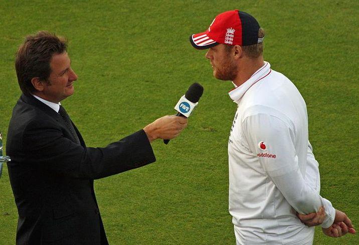 Freddie Flintoff, right, former England cricketer turned property developer 2009 image