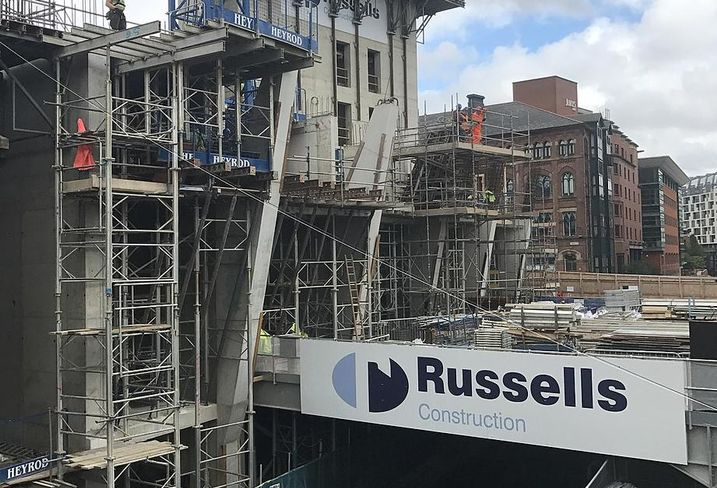 Axis Tower residential Manchester 2017 construction site. Developer Property Alliance Group David Russell