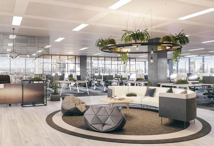 No 1 Spinningfield Manchester Allied London interior fit out