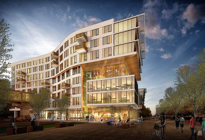 Construction Underway At CIM Group Apartment Complex At Jack London Square