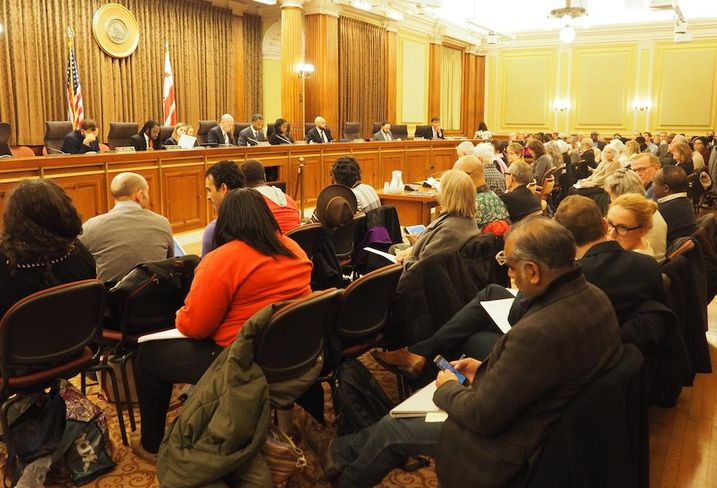 D.C. Council Comprehensive Plan hearing crowd