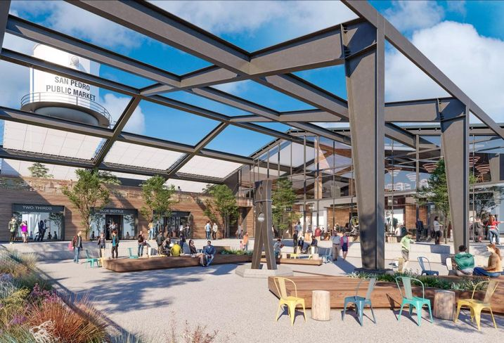 Rendering of San Pedro Public Market