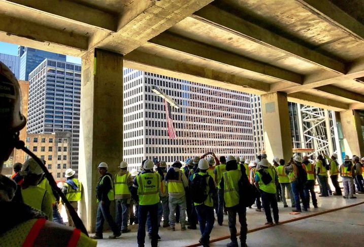 Capitol Tower Topping Out Ceremony