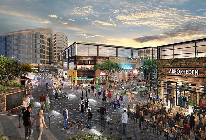 The Collection at Chevy Chase, Maryland, is being redesigned to be more walkable and have a stronger sense of place.