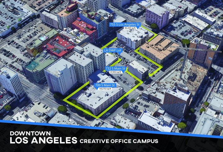 ESI Ventures and Urban Offerings are planning to create a mixed use creative office campus in the Fashion District in downtown Los Angeles