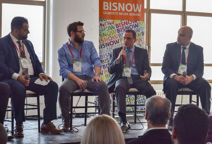 Talisen Construction Corp.'s Jerry Belfiore, Sage Realty Corp.'s Jonathan Iger, MdeAS Architects' Dan Shannon and SJP Properties' Andrew Natale