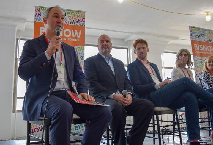 Cushman & Wakefield's Jeff Lessard, SOLiD's Dennis Rigney, The Instant Group's Gethin Davies and Store No. 8 and Jet.com's Christina Antonopolous