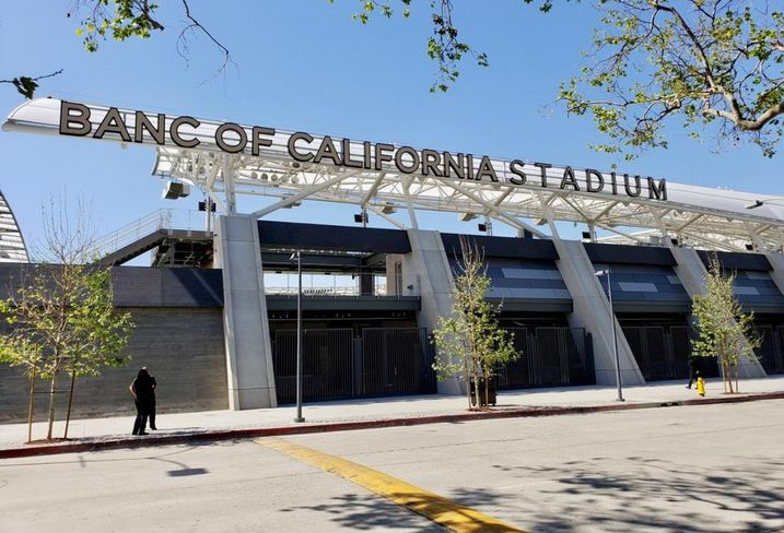 The exterior of Banc of California Stadium the new home of the Los Angeles Football Club