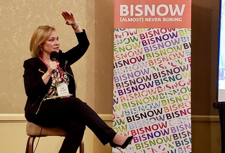 LA Realty Partners Founding Principal Lisa St. John at Bisnow's Neighborhood Series: Century City and Beverly Hills April 17 at the Beverly Hilton