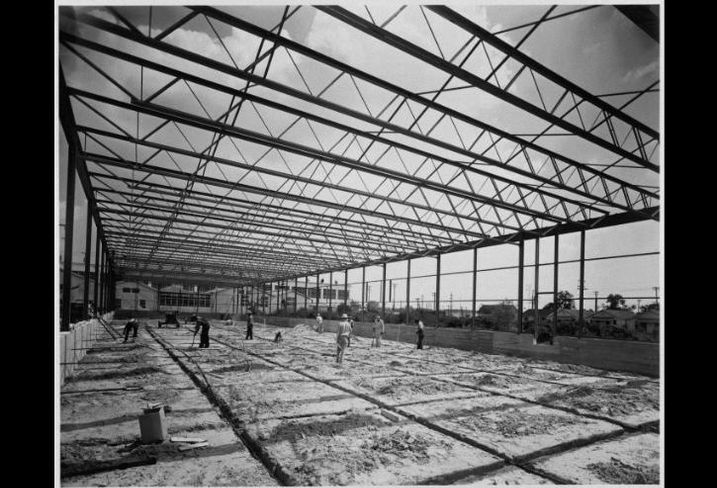 A warehouse and office building under construction in Beaumont, Texas.