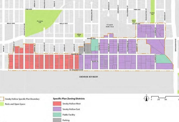 A map of Smoky Hollow in El Segundo