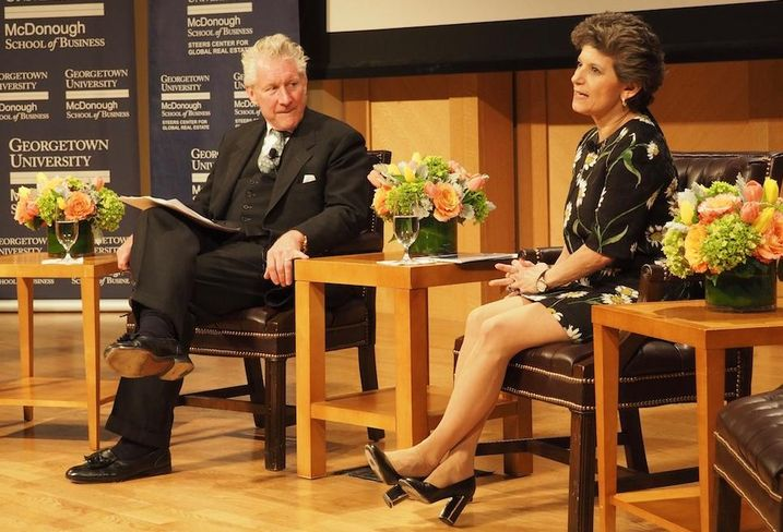 Apollo Global Management Partner Roger Orf and Ventas CEO Debra Cafaro