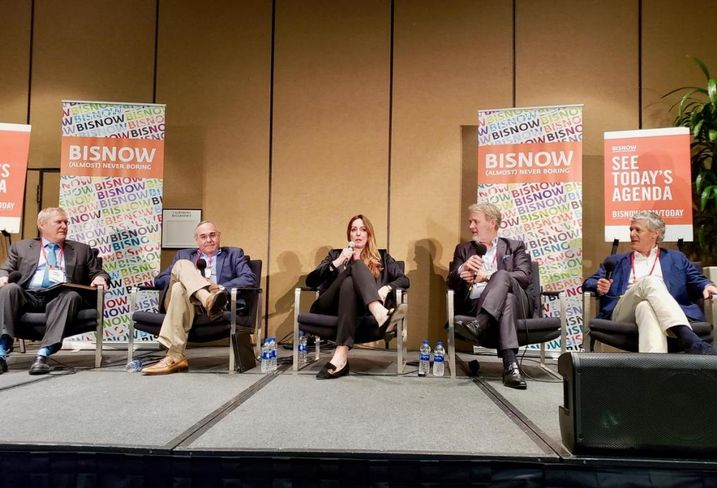 LWHA Managing Director Mark Lukens, The Athens Group COO Jay Newman, MGM Resorts International Chief Experience Officer/CMO Lilian Tomovich, TOTO USA President - Operations Bill Strang, Auberge Resorts CEO Mark Harmon