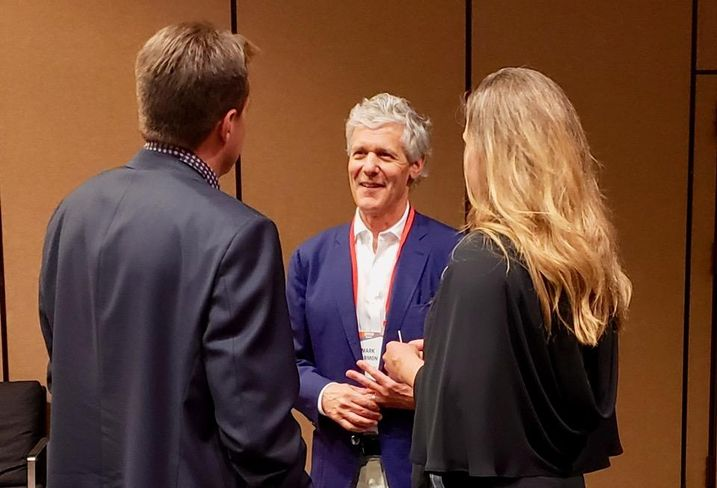 Auberge Resorts CEO Mark Harmon networks with guests April 26 at Bisnow's Lodging & Innovation Series West event at the Sheraton Grand hotel in downtown Los Angeles.