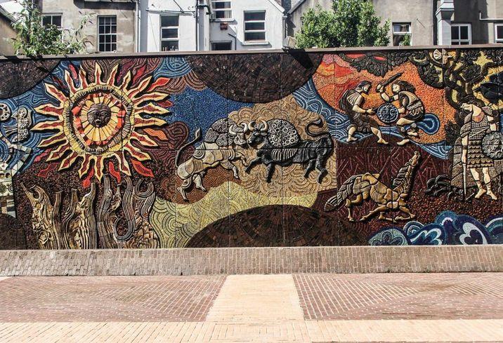 Mural Setanta Centre, Nassau Street, Dublin