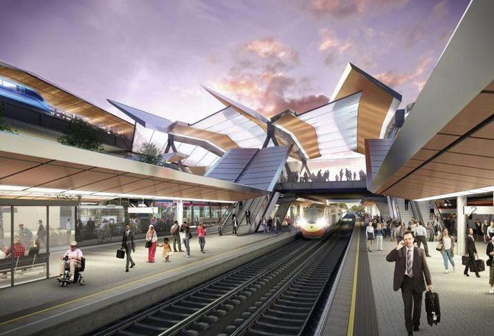 New platforms at Birmingham International Station May 2018