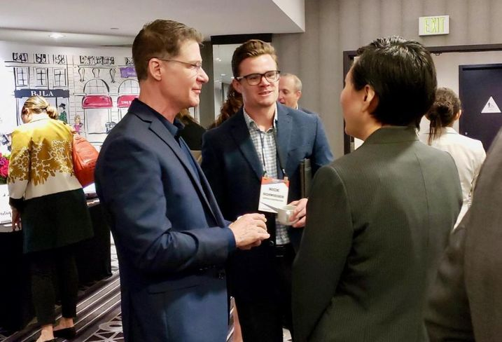 Attendees network April 26 at the Bisnow Lodging & Innovation Series West