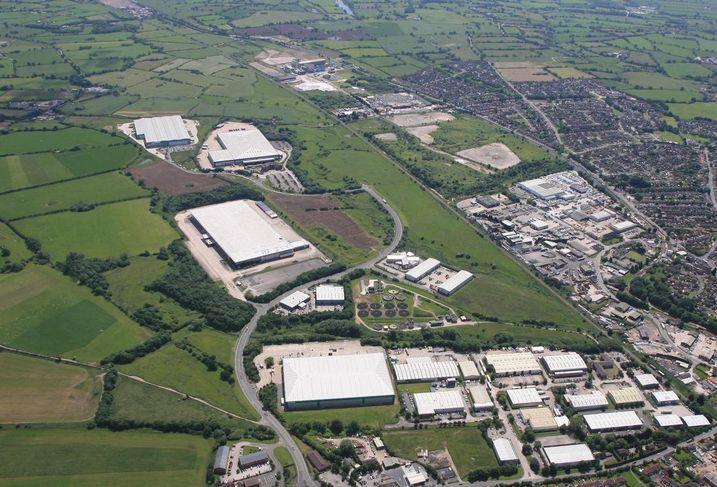 DB Symmetry/Pochin M6 logistics site, Cheshire, near Middlewich Manchester logistics industrial