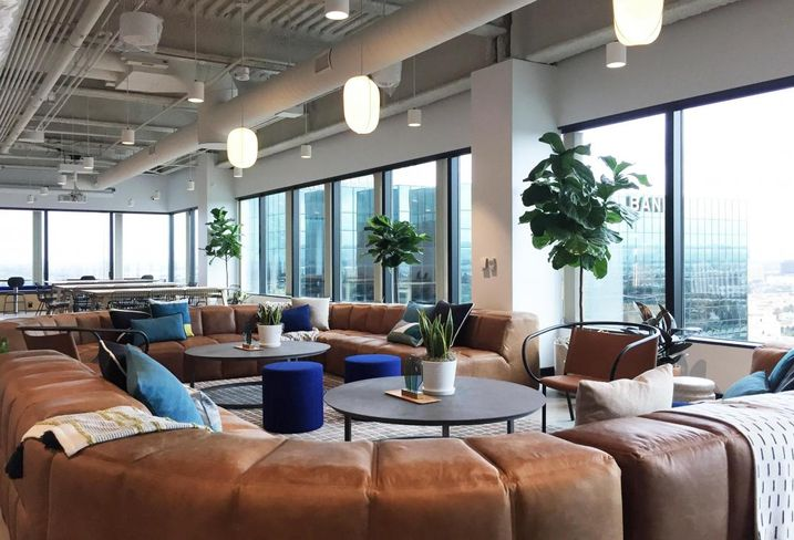 Co-working giant WeWork opens its second location in Orange County in Costa Mesa.