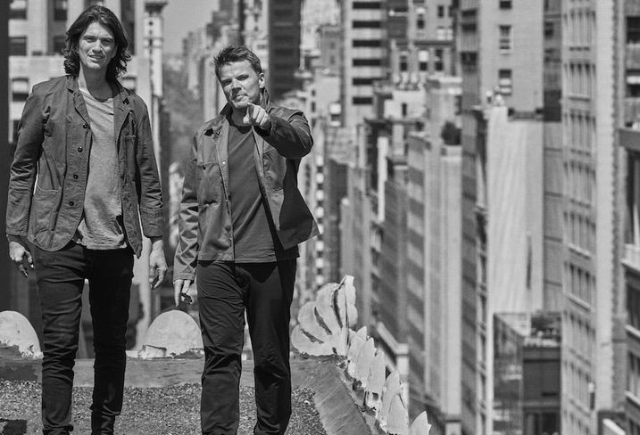 WeWork CEO and co-founder Adam Neumann with architect Bjarke Ingels