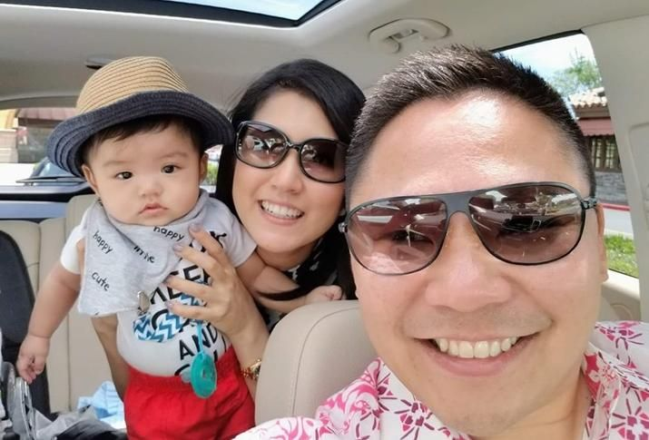 Leonard Mercado with wife, Mia McLeod, and son, Leon