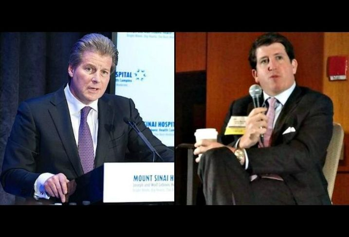 Colliers Chairman/CEO Jay Hennick and Harrison Street Real Estate Capital co-founder and CEO Christopher Merrill