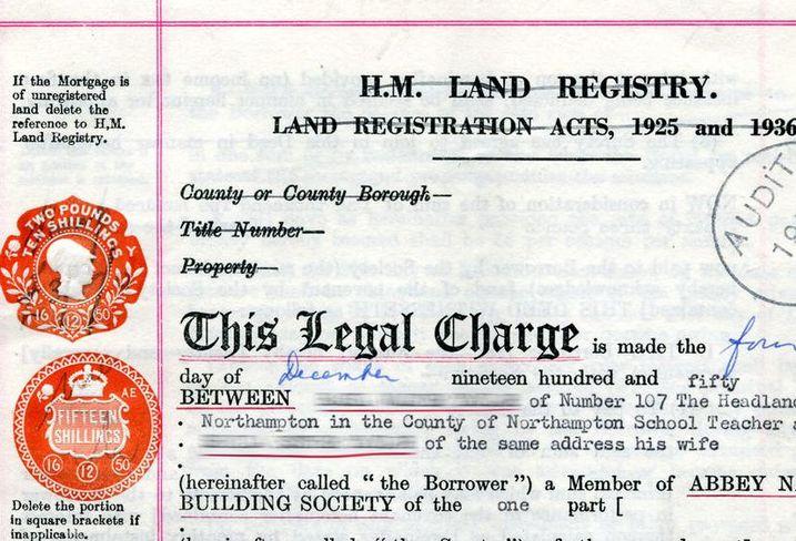 Land registry ownership document