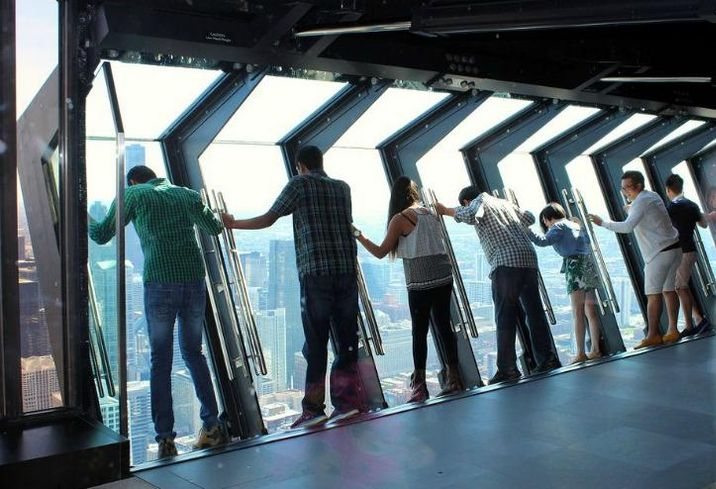 The TILT Attraction at 360 Chicago Observatory