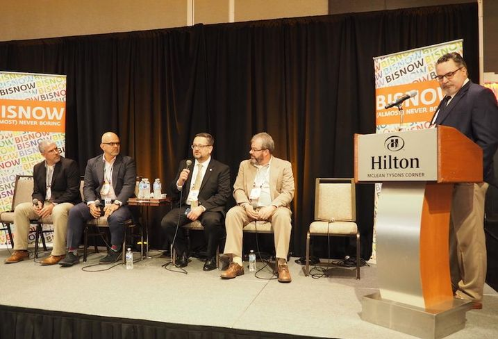 Munters Corp.'s Mike Herwald, RagingWire's Phillip Sandino, Johnson Control's Chris Rudio, COPT Data Center Solution's Jeff Ivey,