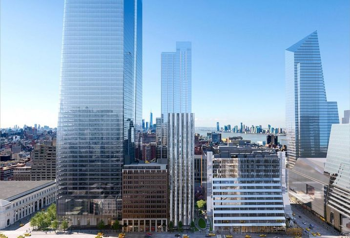 Rendering of the Manhattan West development