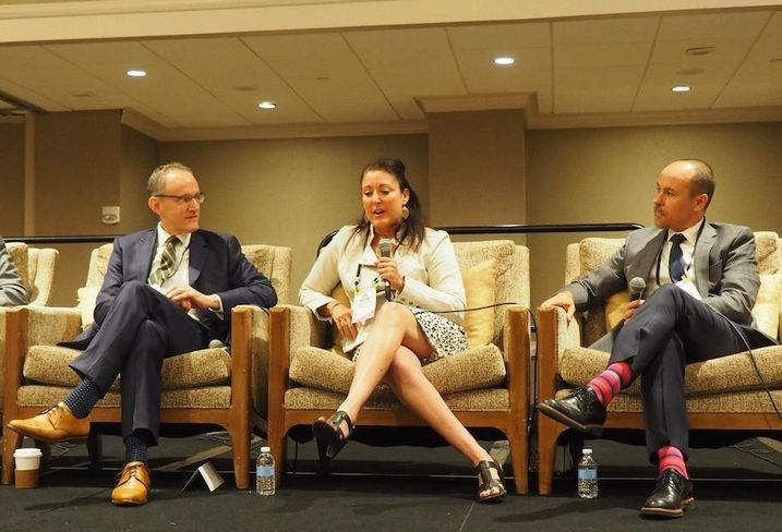 Brookfield's Greg Meyer, Entertainment Software Association's Ana Molina and OTJ Architects' Roger Sola-Sole