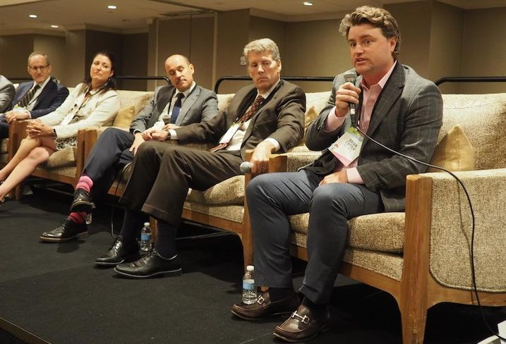 Brookfield's Dave Bevirt, ESA's Ana Molina, OTJ Architects' Roger Sola-Sole, Arent Fox's Sean Glynn and JBG Smith's Brian Cotter