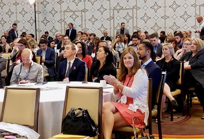 Attendees at Bisnow's National Healthcare West: The Innovation, Expansion & Impact of Healthcare June 7 at the JW Marriott LA Live in downtown Los Angeles.