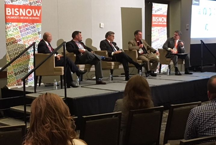 Parkland Hospital COO David Lopez, DPR Construction Project Executive Sean Ashcroft, Garfield Public Private Chairman Ray Garfield, Stantec Principal, Healthcare-South Central Region Randy Edwards and Turner Construction Director Steve Whitcraft, who moderated.