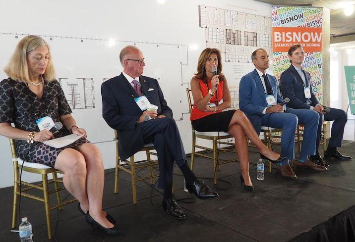 Allison Prince, EagleBank's Ron Paul, Cushman & Wakefield's Roberta Liss, Kettler's Asheel Shah and JBG Smith's Dave Ritchey