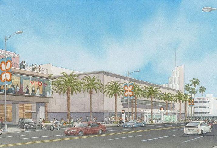 Rendering of Capri Capital's Baldwin Hills Crenshaw Plaza redevelopment