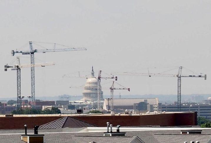 D.C. construction cranes Capitol