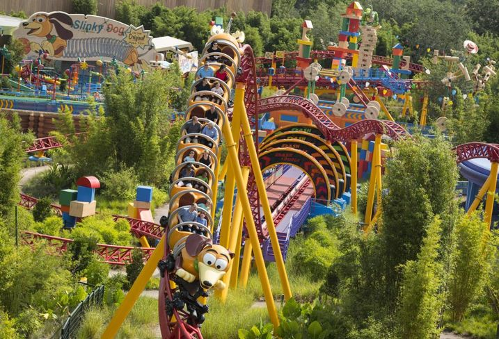 The Slinky Dog Dash roller coaster at Hollywood Studios in Walt Disney World