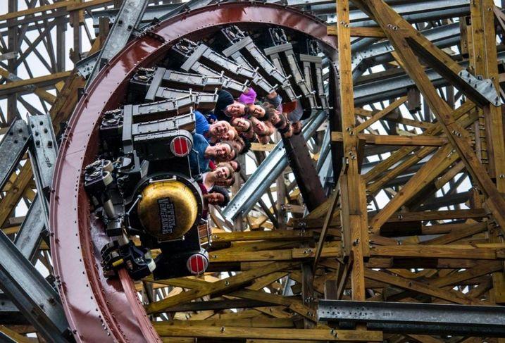 Steel Vengeance roller coaster at Cedar Point in Sandusky, Ohio