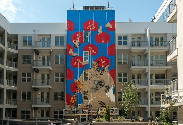 Crescent Communities' NOVEL Stonewall Station mural by Osiris Rain
