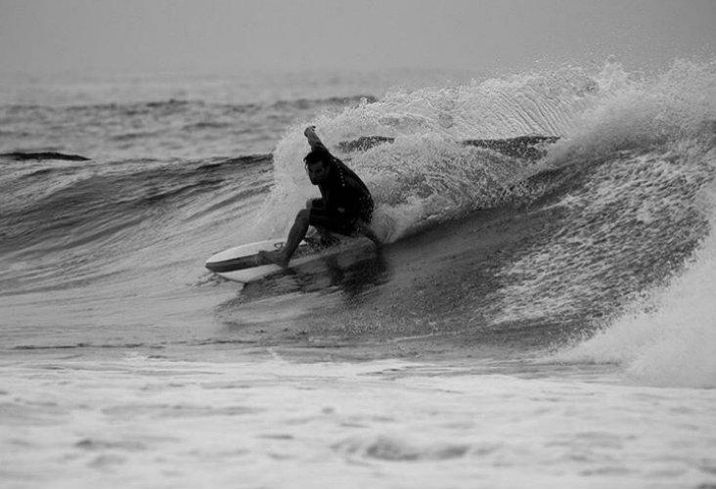 VTS CEO Nick Romito surfing at Seaside Park in New Jersey